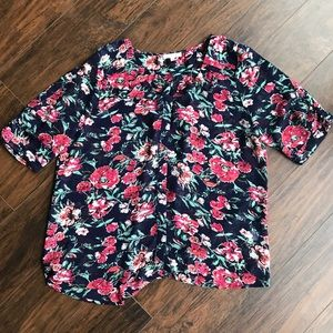 Skies are Blue Floral Top